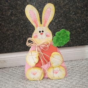 Sitting Wood Easter Bunny